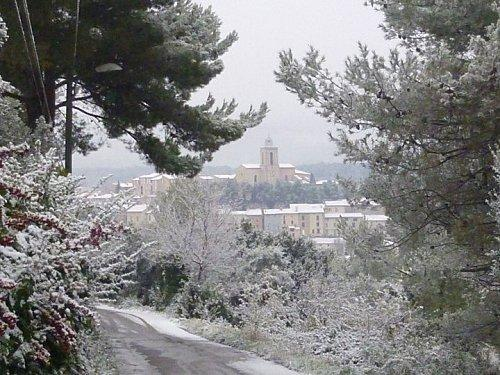 Flayosc sous la neige